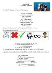 English Worksheet: Portugal The Man - So Young song worksheet