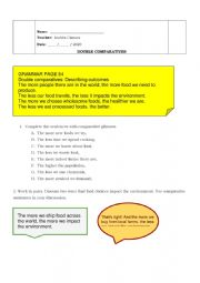 English Worksheet: Double comparatives
