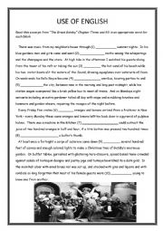 Use of English - Great Gatsby Chapter Three