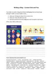 Writing a Blog - Corona Crisis and You
