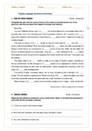 Summative worksheet