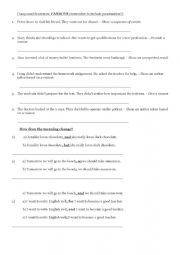 English Worksheet: Compound Sentences