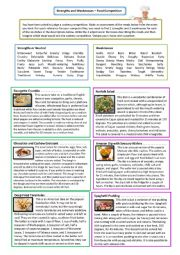 Strengths and Weaknesses - Food Adjectives