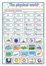 English Worksheet: The physical world