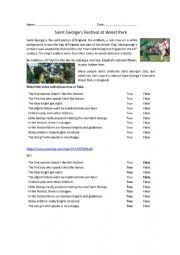 English Worksheet: Saint George�s Festival