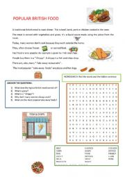 English Worksheet: Popular British Food