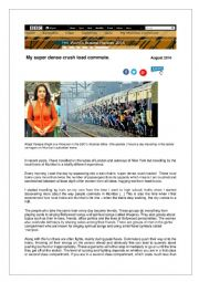 A young Indian woman reports on travelling conditions in commuter  trains in India
