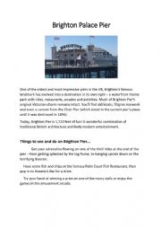 English Worksheet: Brighton Palace Pier