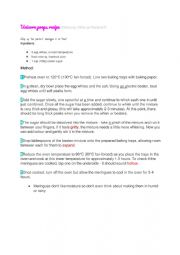 Pavlova recipe easy for learning english