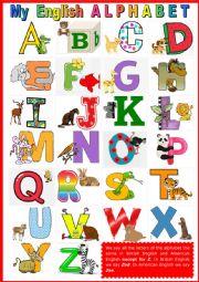 My English Alphabet + KEY