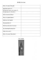 English Worksheet: London Big Ben