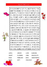 VALENTINE�S WORD SEARCH