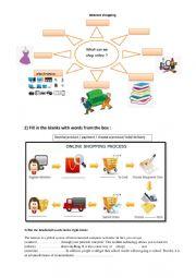 English Worksheet: Internet shopping group session