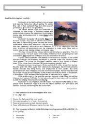 English Worksheet: Ecoturism