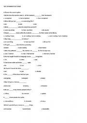 English Worksheet: Narrative Tense test