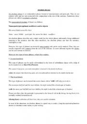 English Worksheet: Absolute phrases