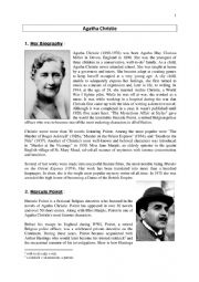 English Worksheet: Agatha Christie