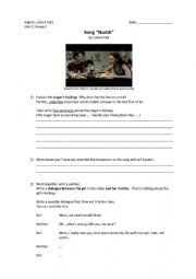 English Worksheet: Song NUMB by Linkin Park