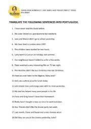 Present Perfect - translation exercise