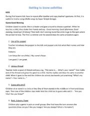 English Worksheet: Getting to know activities