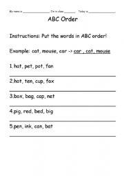 ABC Word Order