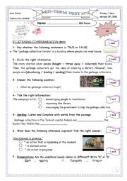 A second term test for 9th formers