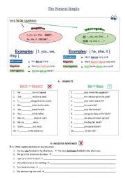 The Simple present - grammar practice
