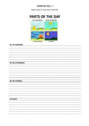 English Worksheet: When do you ...?