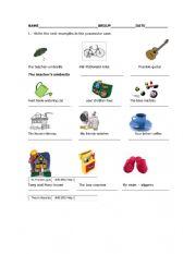 English worksheet: grk