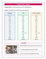 Irregular Verbs Groups