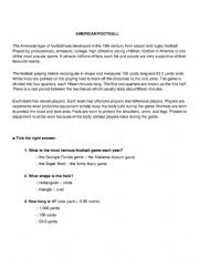 English Worksheet: American football
