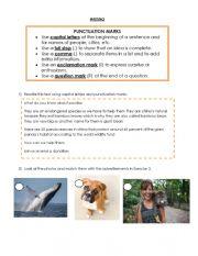 English Worksheet: Writing: punctuation marks