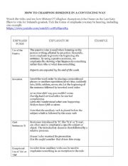 English Worksheet: HOW TO CONVINCE