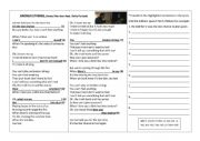 English Worksheet: Reported Speech Song Activity