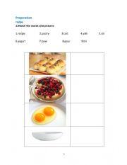 recipe vocabulary
