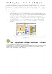 English worksheet: Programmation avec scratch