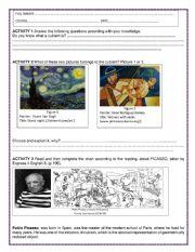 English Worksheet: The cubism