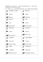 English Worksheet: Drawing, speaking and showing charades #2
