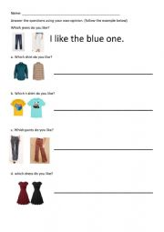 English Worksheet: which one do you prefer