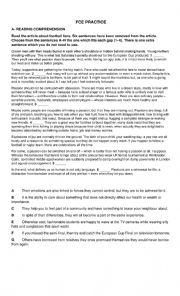 English Worksheet: FCE PRACTICE
