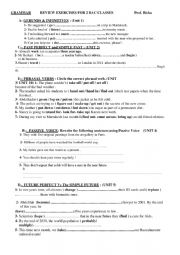 English Worksheet: GRAMMAR REVIEW FOR 2nd year Bac MOROCCO