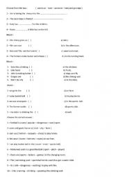 English worksheet: choose