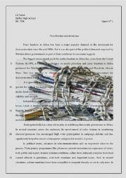 English Worksheet: Press freedom and Democracy