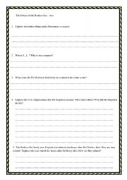 English Worksheet: The Hound of the Baskervilles quiz