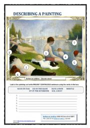DESCRIBING A PAINTING 3 (SEURAT) 3 PAGES (NEW)