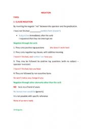 English worksheet: assertive and non assertive items