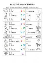 Missing Consonants