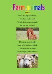 Farm animals poem