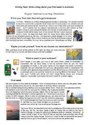 Write a travel blog