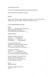 English worksheet: I gotta feeling